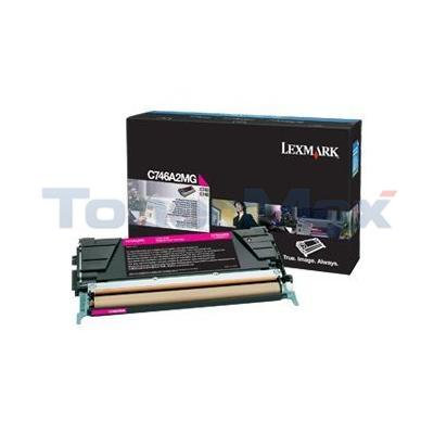 LEXMARK C746 TONER CARTRIDGE MAGENTA